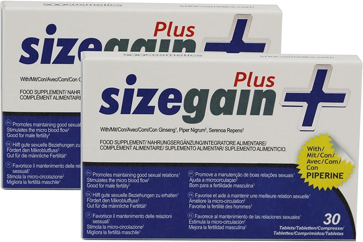 Alargamiento De Pene 3 Sizegain Plus Pastillas Para Alargar El Pene Amazon Es Salud Y Cuidado Personal