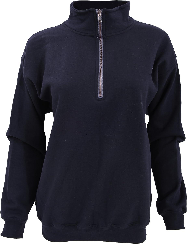 Gildan - Sweatshirt Vintage à Fermeture zippée - Femme Bleu Roi