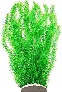 Lantian Grass Cluster Aquarium Décor Plastic Plants Extra Large 23 Inches Tall, Green