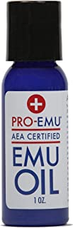 PRO EMU Oil (1 oz) All Natural Emu Oil - AEA Certified - Made in USA - Best All Natural Oil for Face, Skin, Hair and Nails.