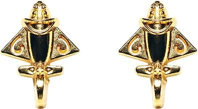2-Pack of Pre Columbian 24k Gold Plated Lapel Pin | Ancient Columbian Airplane Gold Lapel Pins | Gold Lapel Pin Unisex Jewelry | Quimbaya Lapel Pin