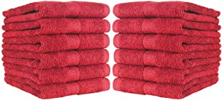 Arkwright Cotton Fast Drying Salon Towels Set, Pack of 12 True Color Highly Absorbent Towel, Not Bleach Safe, Perfect for Gym Towels, Spa Towel, Facial Towel, Hair Towels (16 x 27 Inch, Burgundy)