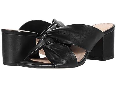 J.Crew Leather Twisted Carmen Sandal (Black) Women