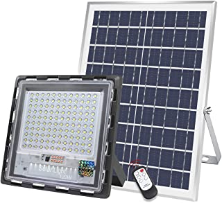 120W Solar Street Light IP65 Waterproof 120 LED Solar Motion Path Light with Remote Control Security Lighting for Yard, Garden, Gutter, Pathway, Basketball Court Path Lighting (120)