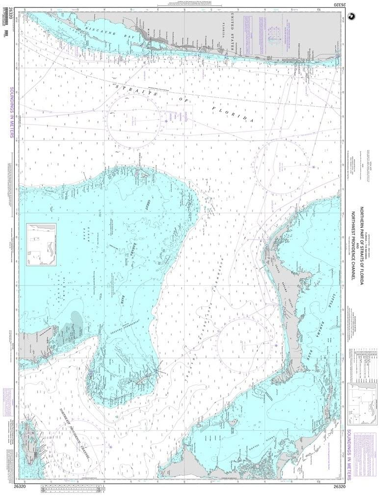 NGA Chart 26320: Dedication New color Northern Part Straits of Northwe and Florida