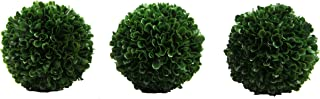 Admired By Nature Faux Preserved Artificial Boxwood Ball Plant, Small-3pcs
