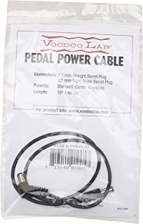 Voodoo Lab 2.1 MillimeterStraight to Right Angle Barrel Cable - 18 Inches