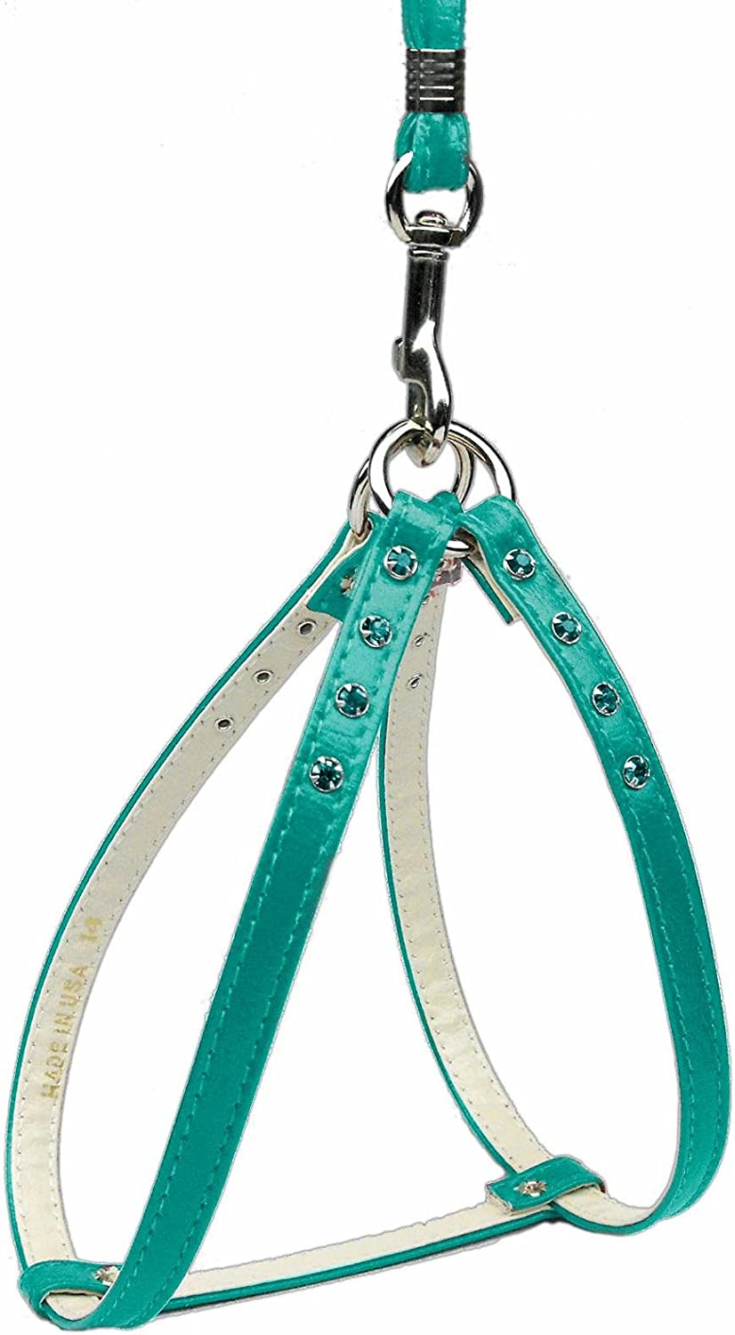 Dog   Cat   Pet Charms StepIn Harness Turquoise w  Turq. Stones 10