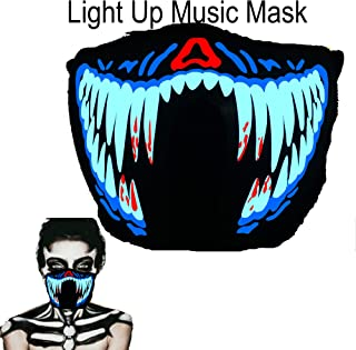 ShineWorld Music LED Party Mask with Sound Active for Dancing,Riding,Skating,Party and Any Festival