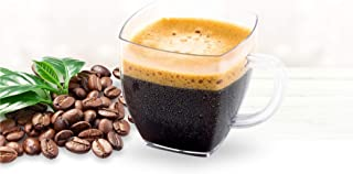 Mini 2 Ounce Coffee Espresso Mug, Clear Plastic Disposable Espresso Cup with Handle, Mini Dessert Cup 20 Count - Posh Setting