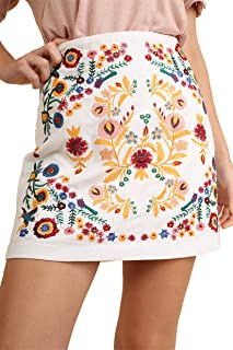 That's My Girl! Mandy + Ally's Heavily Embroidered Mini Skirt