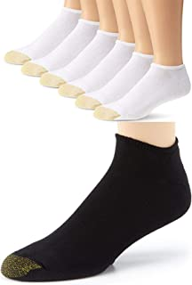Gold Toe Men's 6-Pack Cotton Cushion No Show Liner Socks