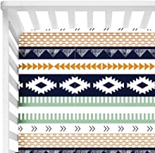 aztec crib sheet