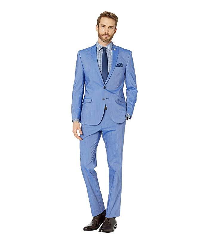 Nick Graham  Chambray Blue Suit (Chambray Blue) Mens Suits Sets