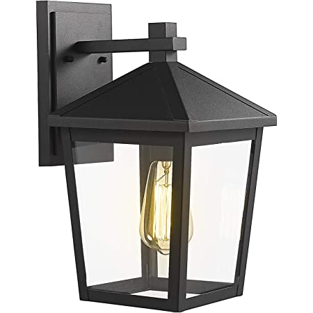 1-Light Feiss OL5420BK Cotswold Lane Outdoor Patio Lighting Wall Lantern Black 7W x 12H 100watts