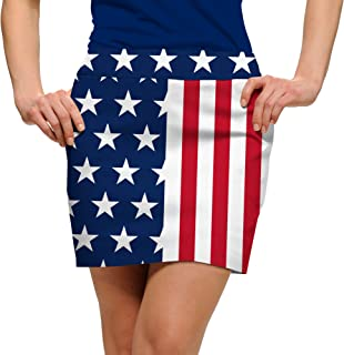 Loudmouth Golf - 100% StretchTech - 4th of July Stars & Stripes Women's Skort