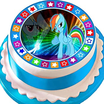 Pleasant Precut Edible Icing Large Cake Topper 7 5 Inch Round My Little Personalised Birthday Cards Beptaeletsinfo