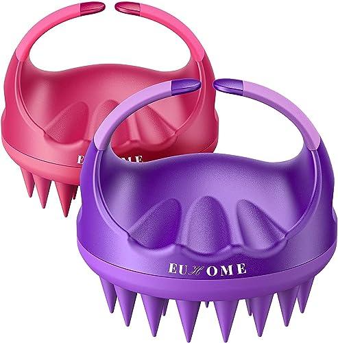 Scalp Massager Shampoo Brush, EUHOME Scalp Brush Hair Scrubber, Hair Washing Brush Scalp Exfoliator Brush for Dandruf...