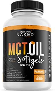 300 Organic C8/C10 MCT Oil Capsules - Keto, Paleo, Low Carb – Faster Metabolism, Ketosis, Sustainable Focus & Energy – Great for Travel - Flavorless, Non-GMO, BPA Free Bottle, 1000mg's per Softgel