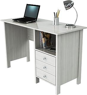 Inval America Laura Collection Computer Desk, Laricina White