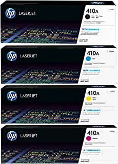 Hp 410a Toner Set CF410A,CF411A, CF412A, CF413A Black, Cyan, Yellow, Magenta, Full Set