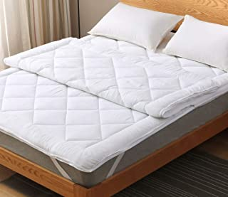 """MARQUESS Dual Layer Mattress Topper with Zippered Cover, Soft Touch, Fit 16"""" Deep, Hotel Quality"""