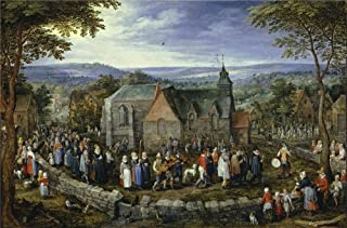 Oil Painting 'Brueghel The Elder Jan Country Wedding Ca. 1612 ' Printing On Polyster Canvas , 18 X 27 Inch / 46 X 69 Cm ,the Best Nursery Decor And Home Decor And Gifts Is This Amazing Art Decorative Prints On Canvas