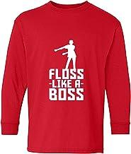 Floss Like a Boss - Flossin Dance Youth Long Sleeve T Shirt