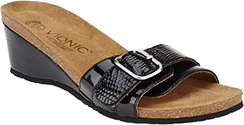 Vionic Ariana Wohommes Slide Wedge Sandals