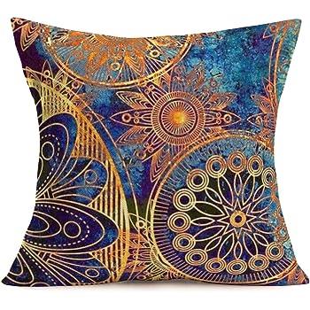 Ethnic Mandala Linen Throw Cushion Cover Pillow Case Home Sofa Car Decor Gift