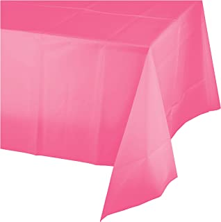 Candy Pink Plastic Tablecloths, 3 ct
