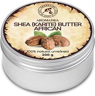 comprar comparacion Manteca de Karité 200g - Africana -Ghana - Sin Refinar - Prensado en Frío - 100% Puro y Natural - Mejor para el Cabello - ...