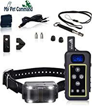 My Pet Command 1.25 Mile (6600 Ft) Dog Training Collar Safe Dog Shock Collar with Remote Shock, Vibrate, Tone and Flashing Beacon Lights Waterproof Rechargeable Dog Hunting add Up to 3 Collars Bonus