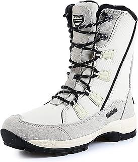 ROCKMARK Boys Girls Kids Winter Snow Boots Waterproof Outdoor Warm Anti-Slip Anti-Collision Hight-Cut for Outdoor Skiing S...