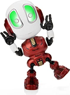 (Red) - Sopu Talking Robot Toys Repeats What You Say Kids Robot Toy Metal Mini Body Robot with Repeats Your Voice, Colourf...