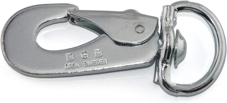 Snap Hook Verschiedene Gr/ö/ßen LENNIE Schwedenhaken aus verzinktem Stahl mit Drehwirbel