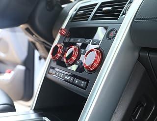 Auto Aluminium Volumen Klimaanlage Knöpfe Audio Kreis Trim Für Discovery Sport 2015 2019 (rot)