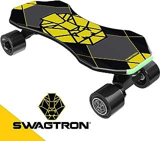 "Swagtron Swagskate NG3 Electric Skateboard for Kids, Teens | Kick-Assist A.I. Smart Sensors | Boosted Mini E-Cruiser Skateboard w/Move-More/Endless Mode | 9"" Deck 72mm Wheels"
