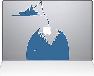 "The Decal Guru 0149-MAC-15P-LB Gone Fishing Vinyl Sticker, 15"" Macbook Pro (2015 & older), Blue"