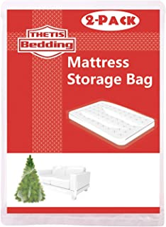Thetis Homes 2 Pack Mattress Bag for Moving and Storage, Queen Size for Full, Full XL, and Queen, 76x96 inch