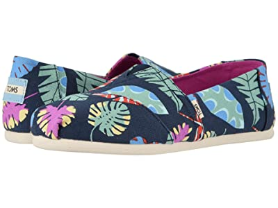 TOMS Alpargata (Navy Tropical Leaves) Women