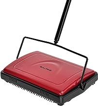 Alpine Industries Triple Brush Floor & Carpet Sweeper – Heavy Duty & Non..