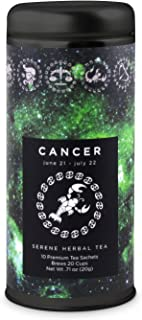 Cancer Astrology Tea- Serene Herbal: All-Natural, Caffeine Free, Chamomile Lavender Herbal Blend, Improves Sleep, Digestive Health, 24 servings