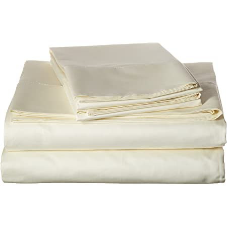 Sheet Set 600TC Hemstitch King Ivory Malibu Home