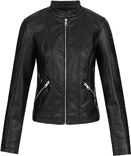 Vero Moda Women's Vmkhloe Favo Faux Leather Jacket Noos