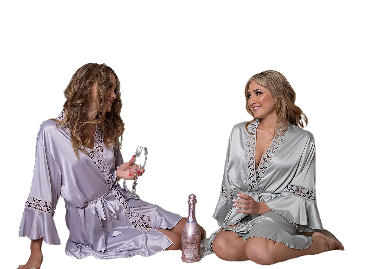 Lace Satin Robes Bridesmaid Selling and selling Custom Silk Proposal Ruffle List price