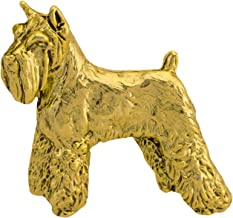 Creative Pewter Designs, Pewter Schnauzer Mini Pin, Gold Plated, DG458MP