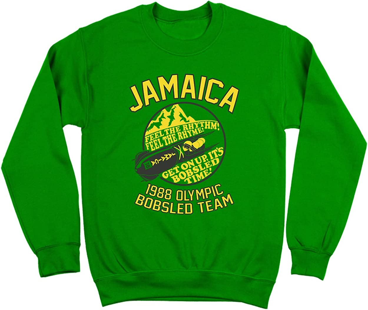 Funny Threads 100% quality warranty! Outlet Jamaica 1988 Albuquerque Mall Sports Team Retro Mens Bobsled