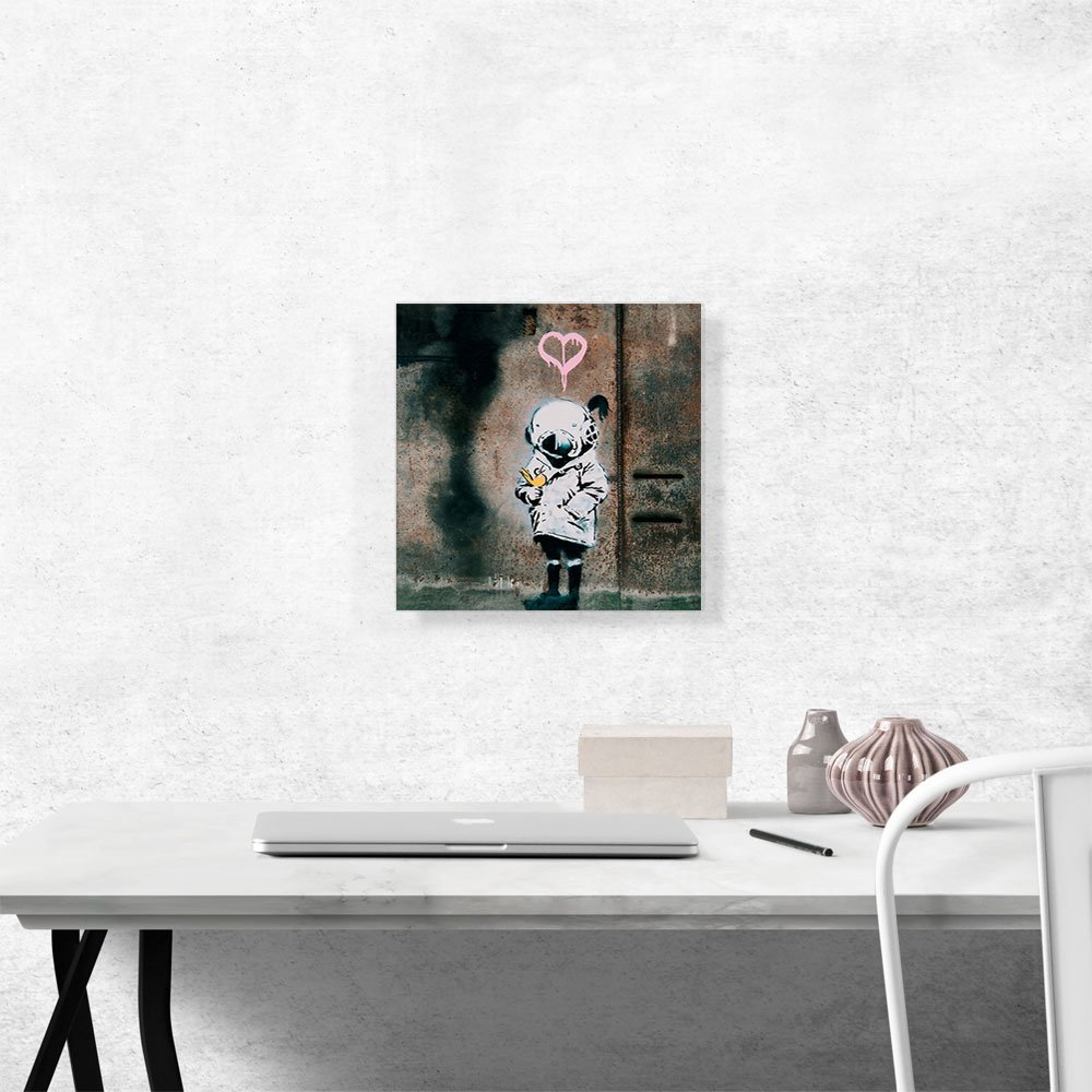 ARTCANVAS Space Girl and Bird Canvas Art Print by Banksy