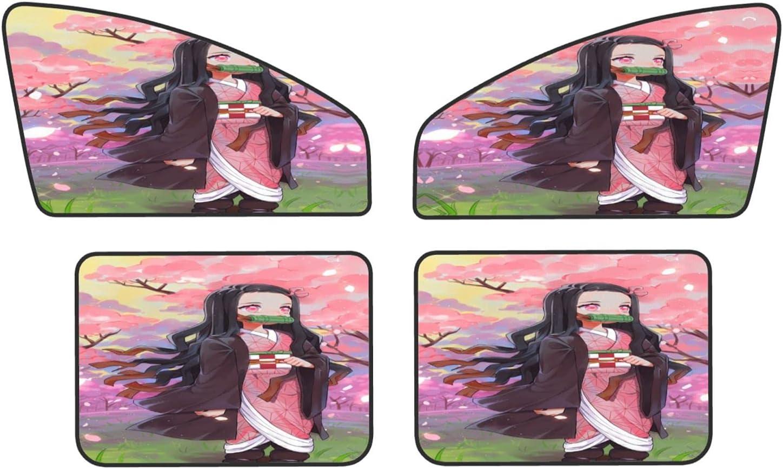 gazunpf D-emon Slayer Super beauty product restock quality top! Four-Piece Car Set New product Window Ca Side Sunshade